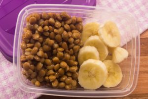 Frozen lentils and banana